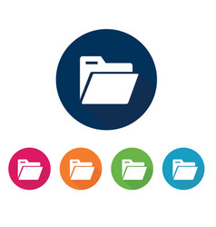 icon set storage office material vector image