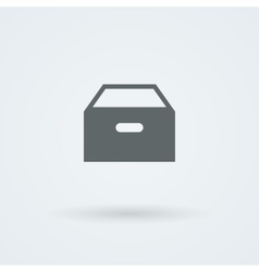 icon with paper drawer vector image