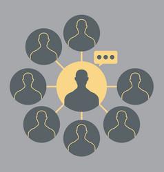 Influencers icon logo blogger symbol vector