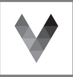 initials letter v geometric logo vector image