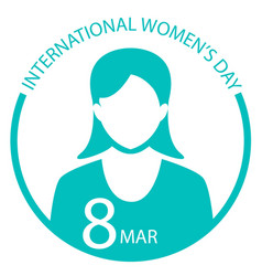 international women day sign logo vector image