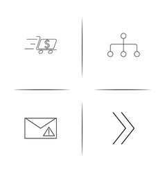 Internet of things simple linear icons set vector