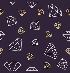 Jewelry seamless pattern diamonds line vector