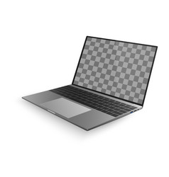laptop with shadow isolated on white background vector image