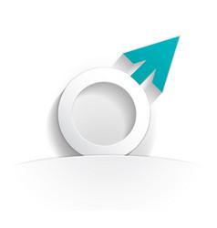 male icon paper vector image