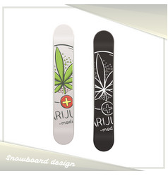 Medical marijuana snowboard nine vector