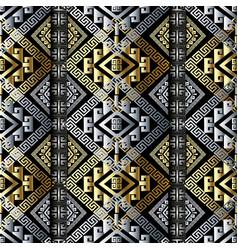 Modern meander greek key seamless pattern vector