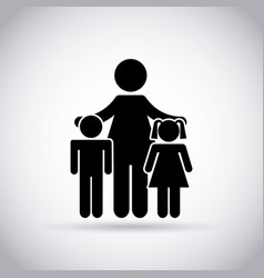 mom and kids icon vector image
