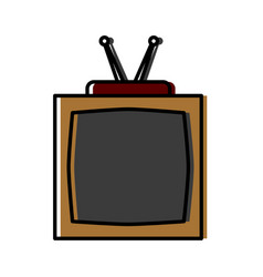 old tv isolated vector image