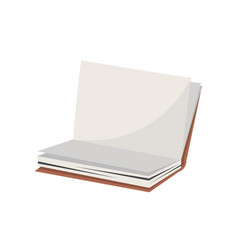 open school notebook icon in flat style vector image