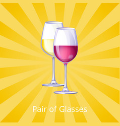 pair of glasses icons yellow vector image