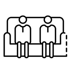 people in sofa icon outline style vector image