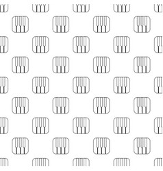 piano keys pattern seamless vector image