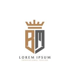 Premium bm monogram two letters bm elegant vector