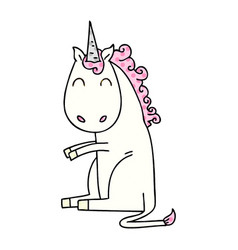 Quirky comic book style cartoon unicorn vector