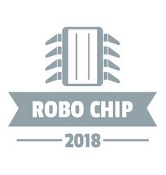 robo chip logo simple gray style vector image