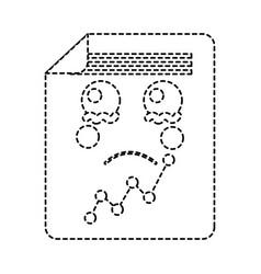 Sad graph chart kawaii icon image vector