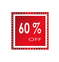 sale 60 off banner design over a white vector image