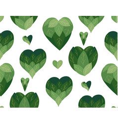 seamless flat pattern with doodle hearts from vector image
