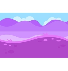 Seamless Landscape of Grassy Road and Pink Purple vector image