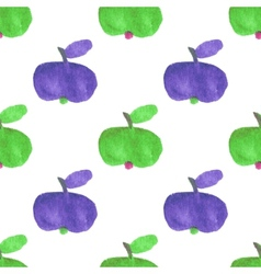 Seamless watercolor pattern with funny green and vector