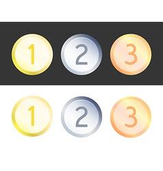 Set of Medals for Celebration vector image