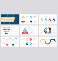 Set yellow dark blue red and claret elements vector