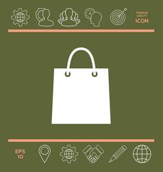 shopping bag vector image