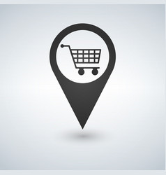 shopping cart pointer icon isolated on white vector image