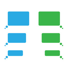 short message service flat bubbles vector image