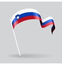 Slovenian wavy flag vector