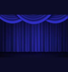 Spotlight on stage curtain theater or cinema 3d vector