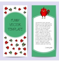 Stock cards template for children s birthday party vector