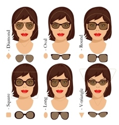 sunglasses shapes 2 vector image