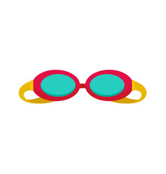 Swim glasses icon flat style vector