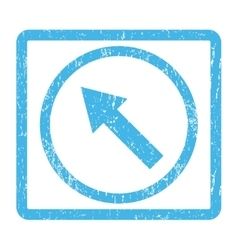 Up-Left Rounded Arrow Icon Rubber Stamp vector