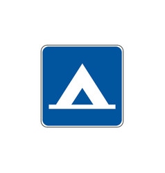 Usa traffic road signs general service sign for vector