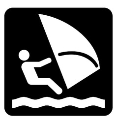 Wind Surfing Icon vector image