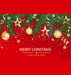 wishing card for christmas and happy 2021 new year vector image
