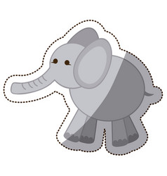 color elephant icon stock vector image