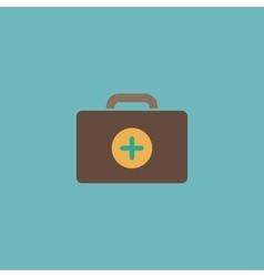 Medical box modern flat icon vector image