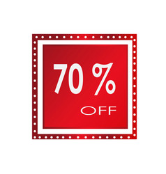 sale 70 off banner design over a white vector image vector image