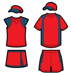 tennis uniforms vector image
