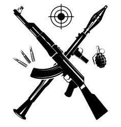 The coat of arms from a gun vector image