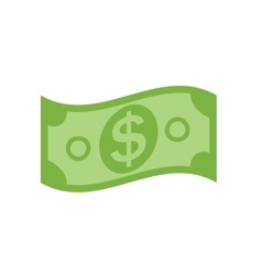 US Dollar Stack Paper Banknotes Icon Sign vector image vector image