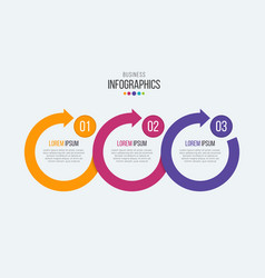 3 steps timeline infographic template with vector image vector image