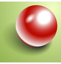 Beautiful 3D shiny natural Red Pearl vector image