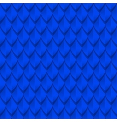Blue dragon scales seamless background texture vector image