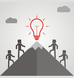 businessman climbing mountain to accomplish his vector image vector image