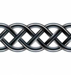 Celtic serpentine rope design vector image vector image